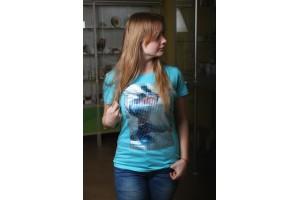 Naiste T-särk mosaiigiga